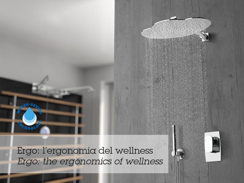 Soffioni doccia la piogga nella sua forma migliore orsolini - Soffione doccia a soffitto ...