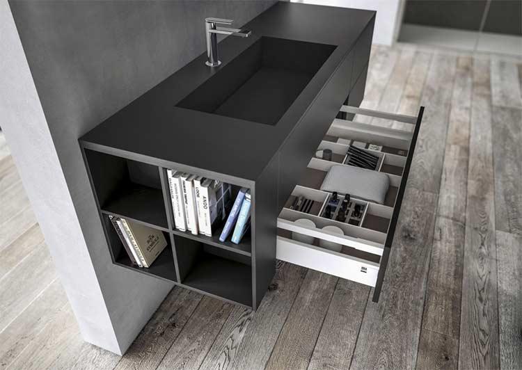 Il re del bagno il mobile bagno orsolini - Lavandino bagno nero ...