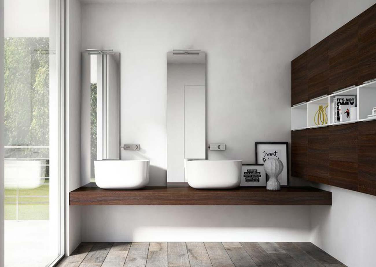 My time il mobile bagno dal design essenziale e for Indissolubile sinonimo