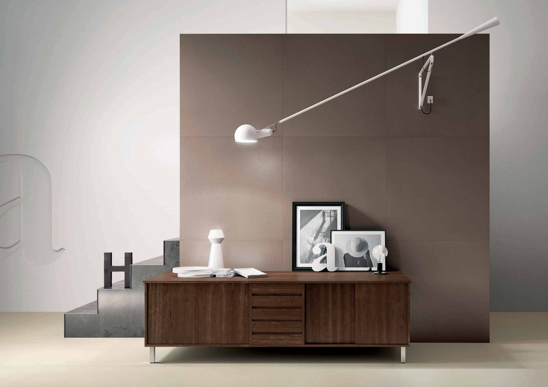 il gres effetto cemento spatolato di cotto d 39 este orsolini. Black Bedroom Furniture Sets. Home Design Ideas
