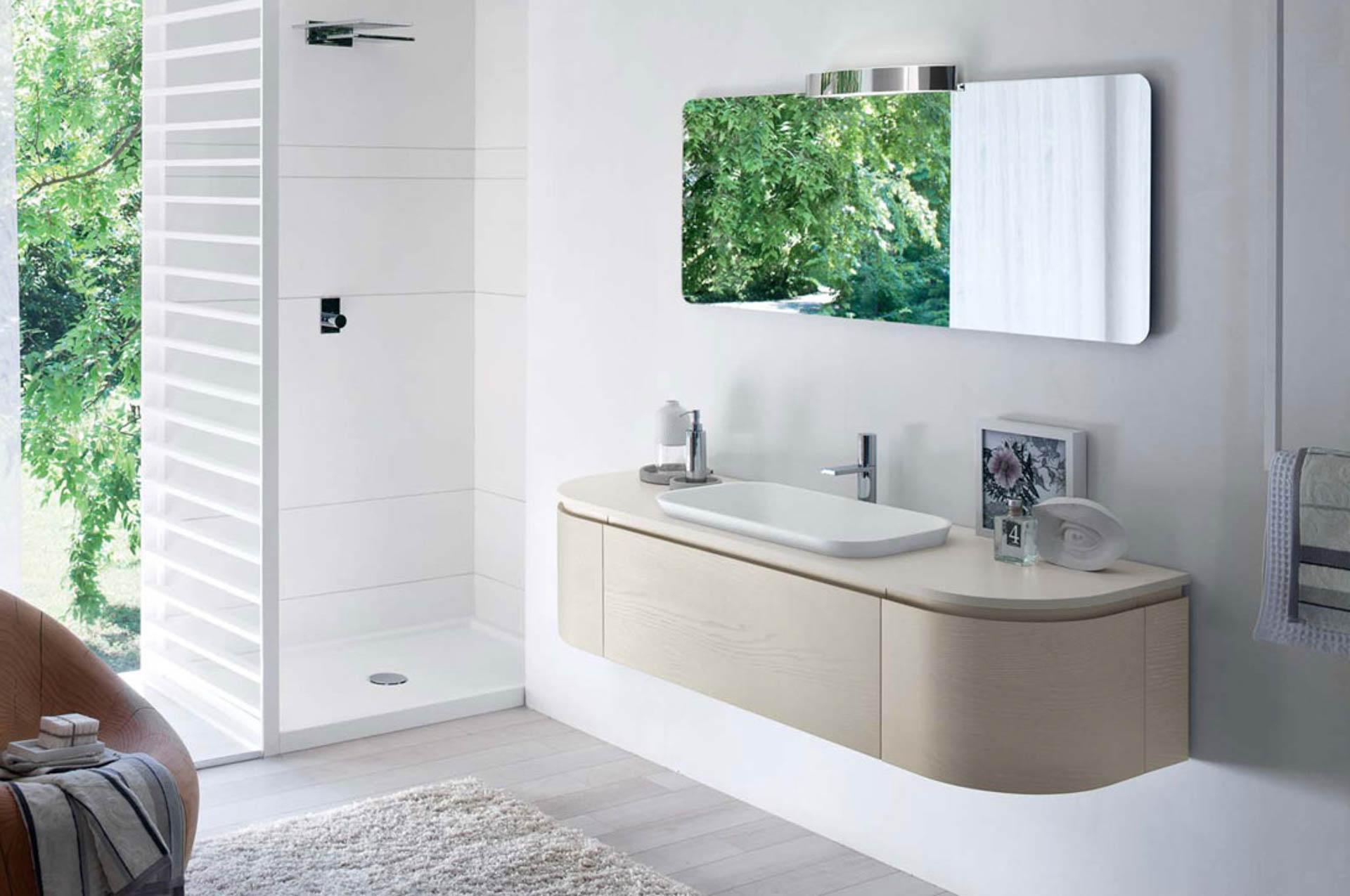 Il mobile bagno dalle forme morbide e lineari orsolini - Mobili bagno roma ...