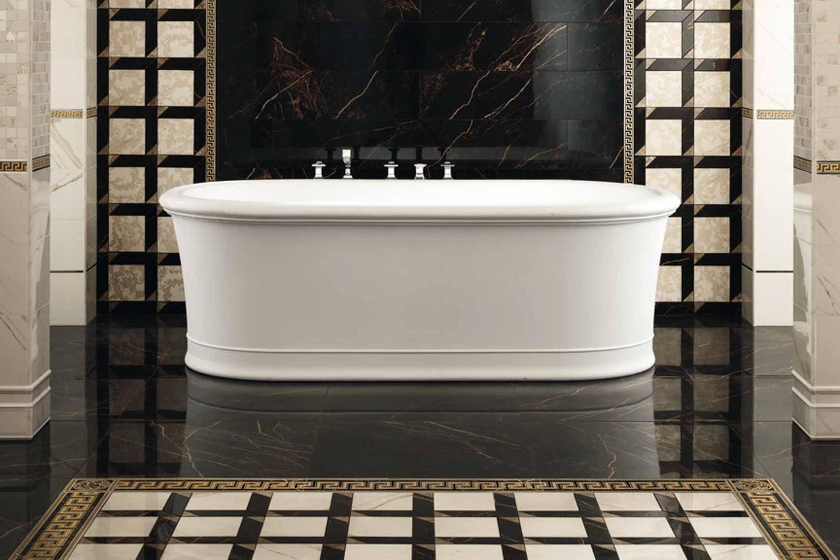 Bagni in marmo di lusso marmi pregiati onice e legno with - Piastrelle versace prezzi ...