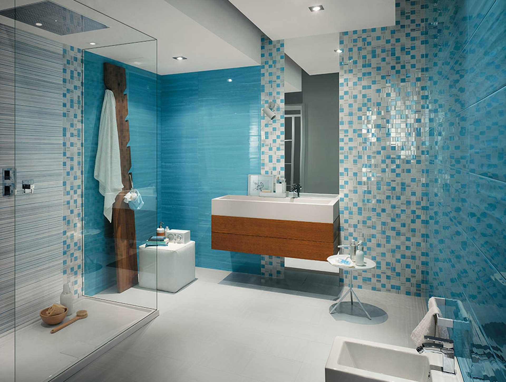 Sole un mix di decori e mosaici per il rivestimento bagno orsolini - Ceramiche per bagno ...