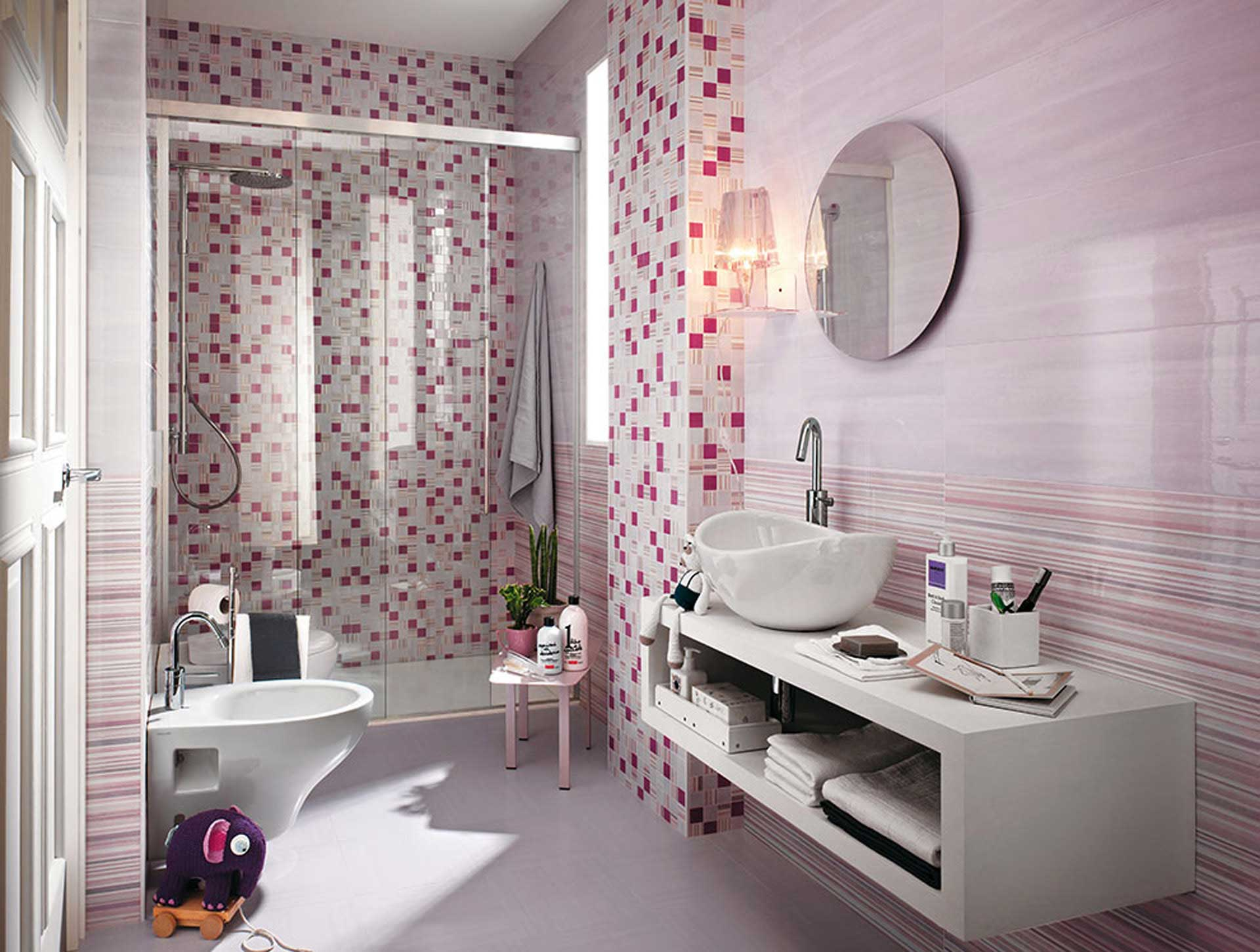 sole un mix di decori e mosaici per il rivestimento bagno orsolini. Black Bedroom Furniture Sets. Home Design Ideas