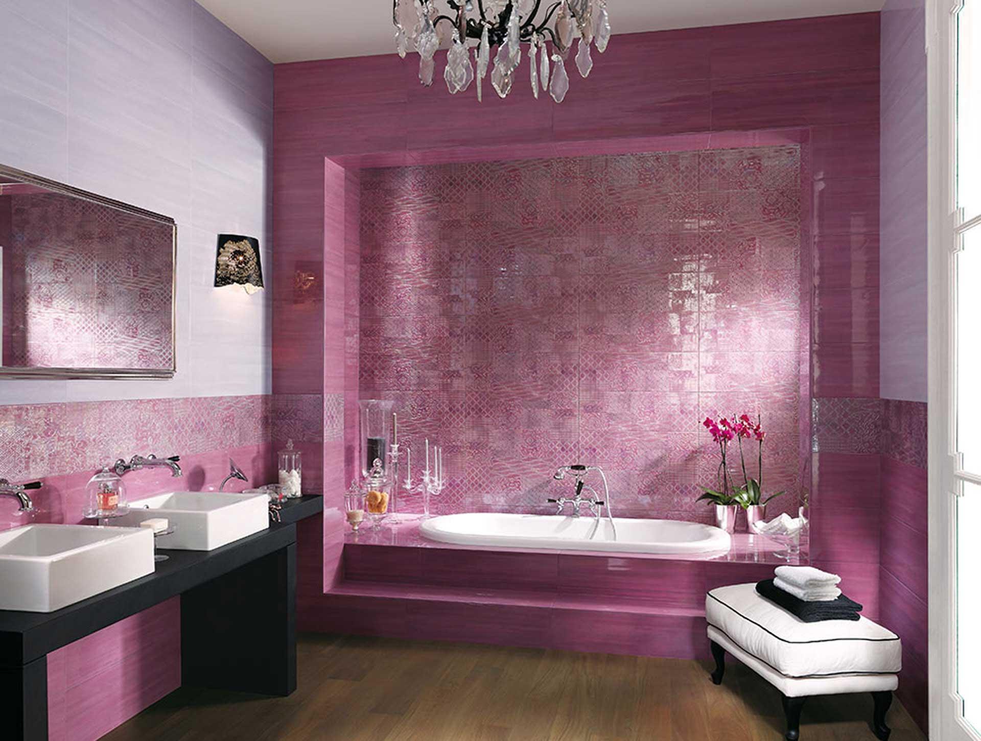 Rivestimenti Bagno Glicine : Sole un mix di decori e mosaici per il rivestimento bagno