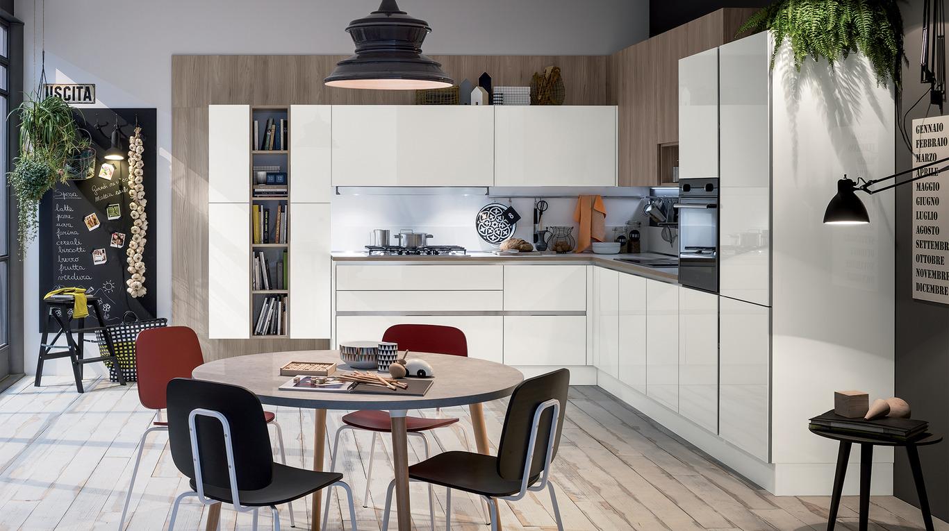 Colori laccati lucidi ed effetto vetro per la cucina like go orsolini - Mobili veneta cucine ...