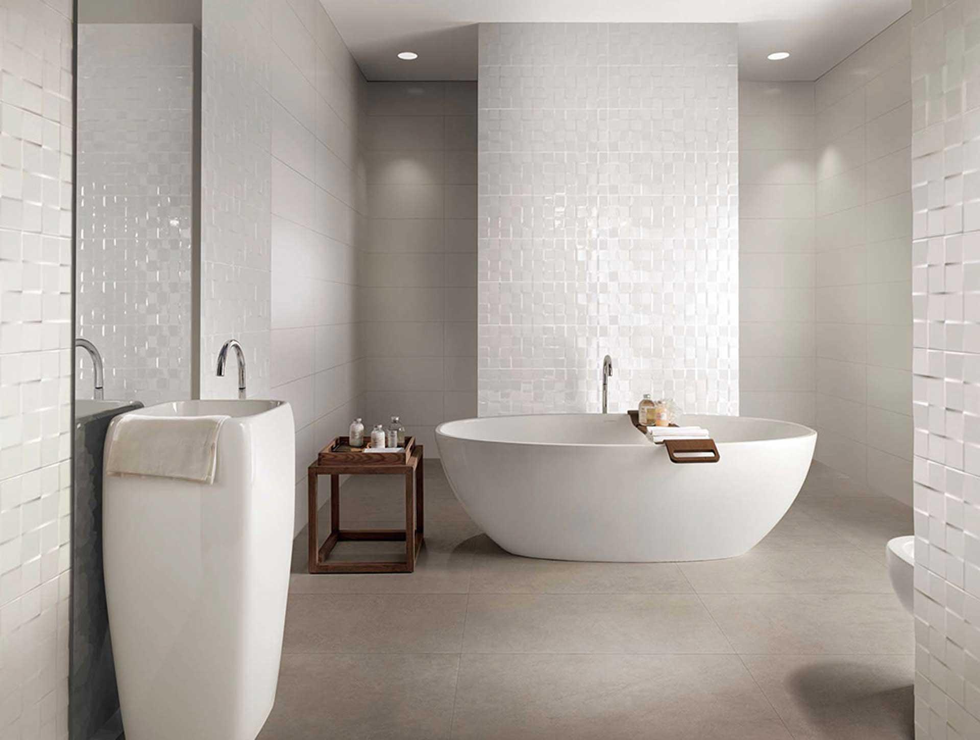 Il rivestimento bagno moderno di Fap Ceramiche - Orsolini
