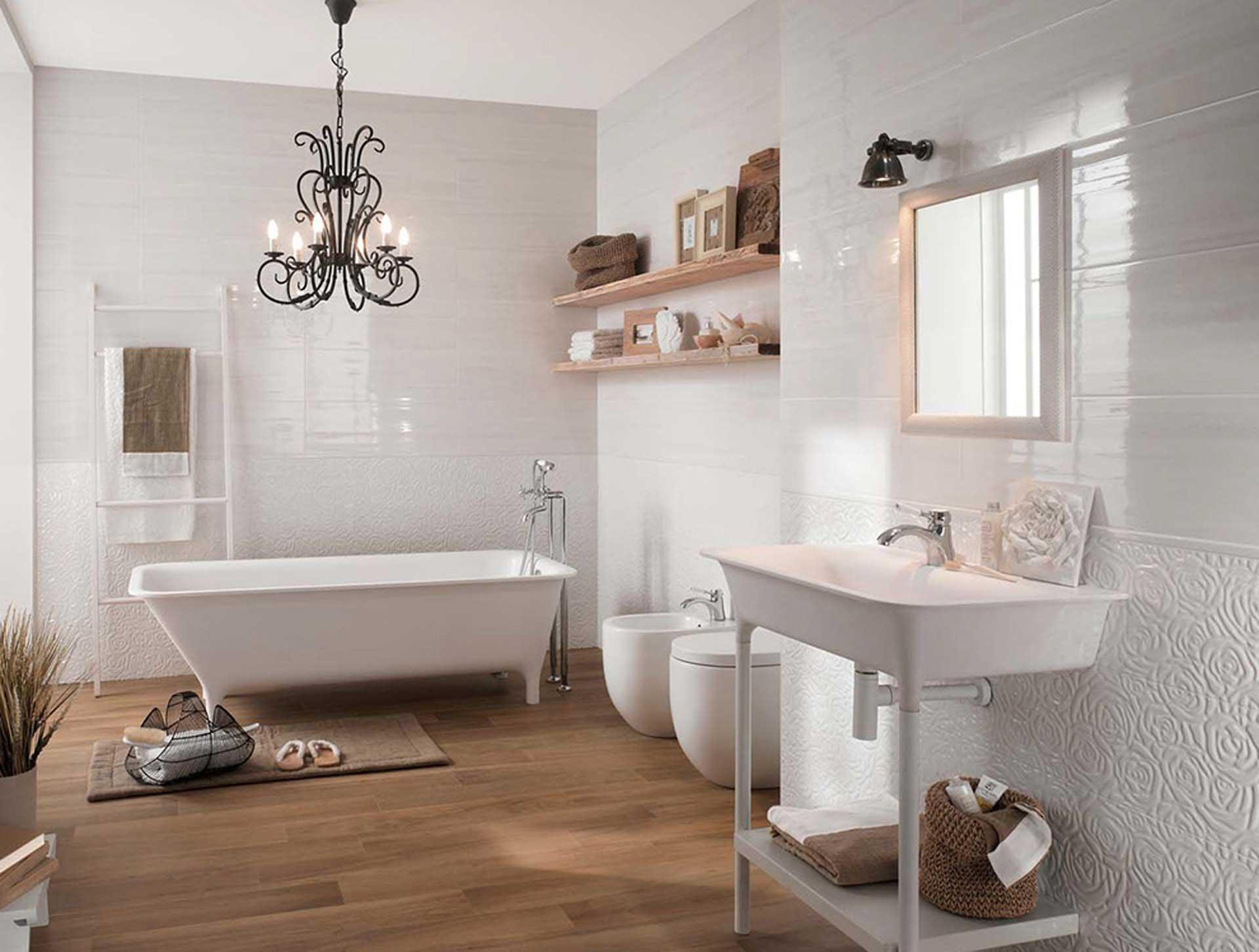 Il rivestimento bagno moderno di fap ceramiche orsolini - Bagno stile provenzale ...