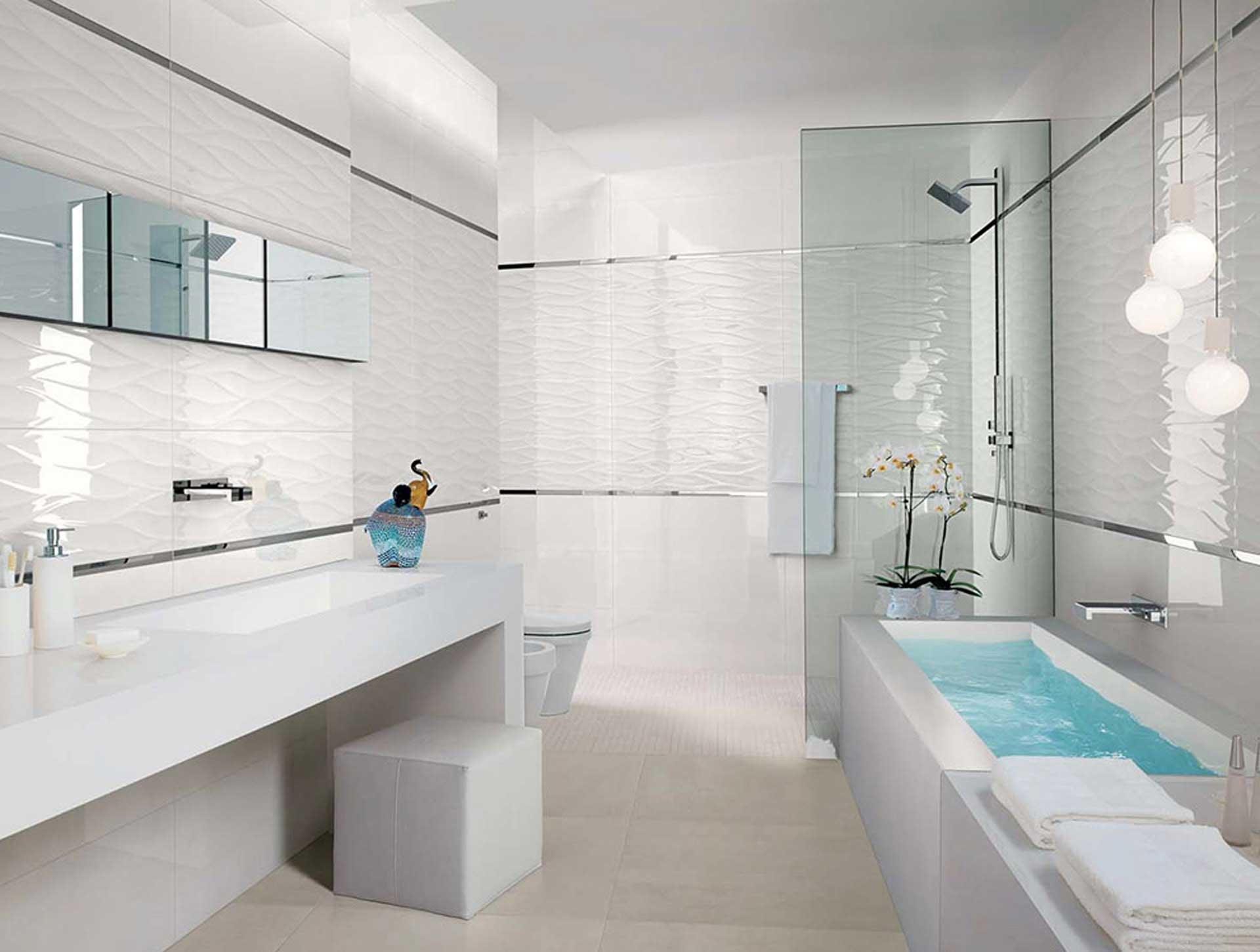 il rivestimento bagno moderno di fap ceramiche orsolini. Black Bedroom Furniture Sets. Home Design Ideas