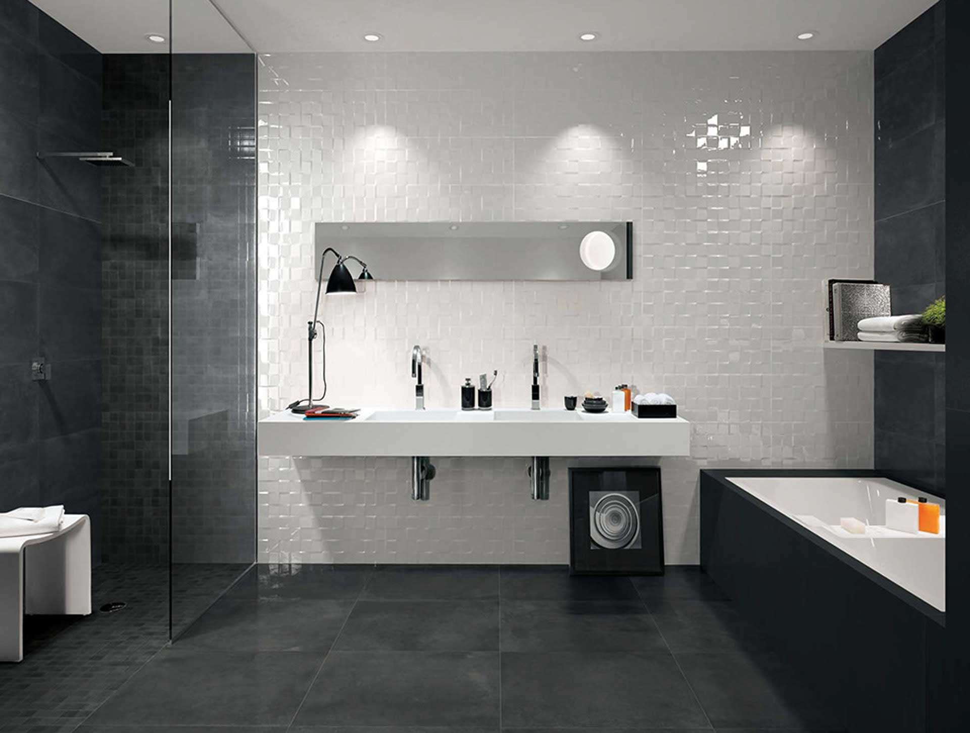 il rivestimento bagno moderno di fap ceramiche orsolini. Black Bedroom Furniture Sets. Home Design Ideas