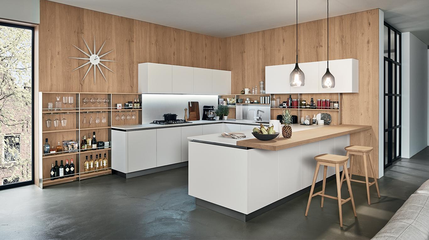 Essenzialità e funzionalità per la cucina Oyster Pro - Orsolini
