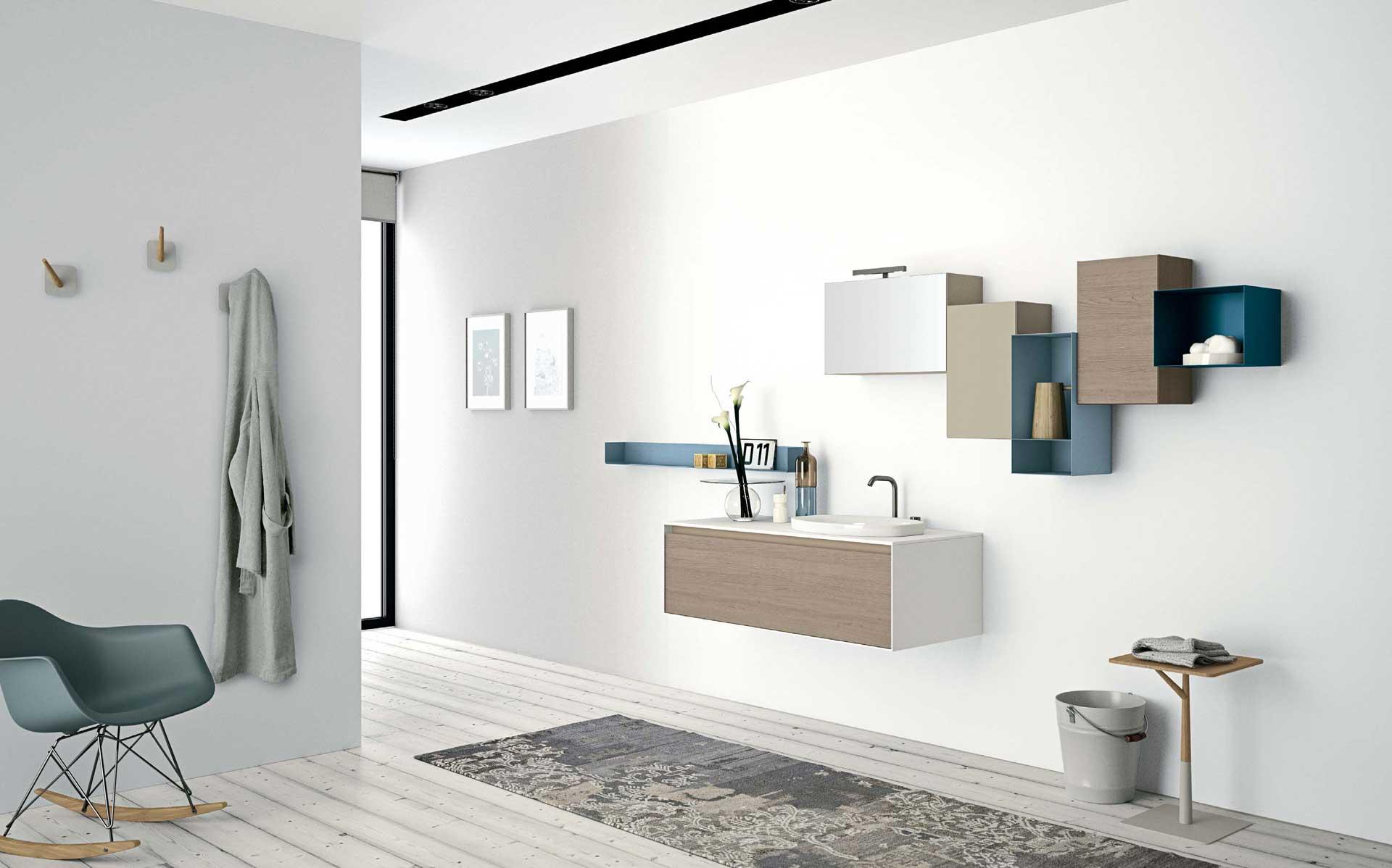 Mobili per il bagno orsolini e altamarea - Idee per rivestire un bagno ...