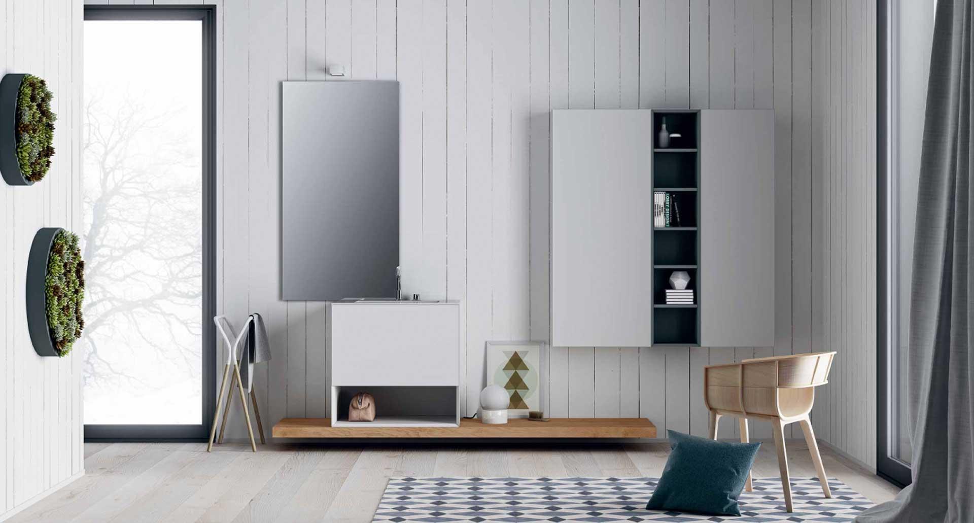 Mobili per il bagno orsolini e altamarea - Pavimenti lucidi a specchio ...
