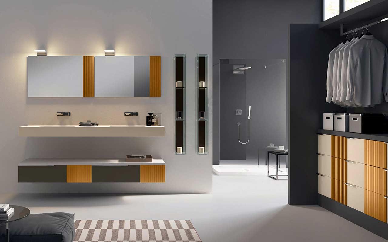 Il calore del legno unito al design listato contribuiscono a creare un ...
