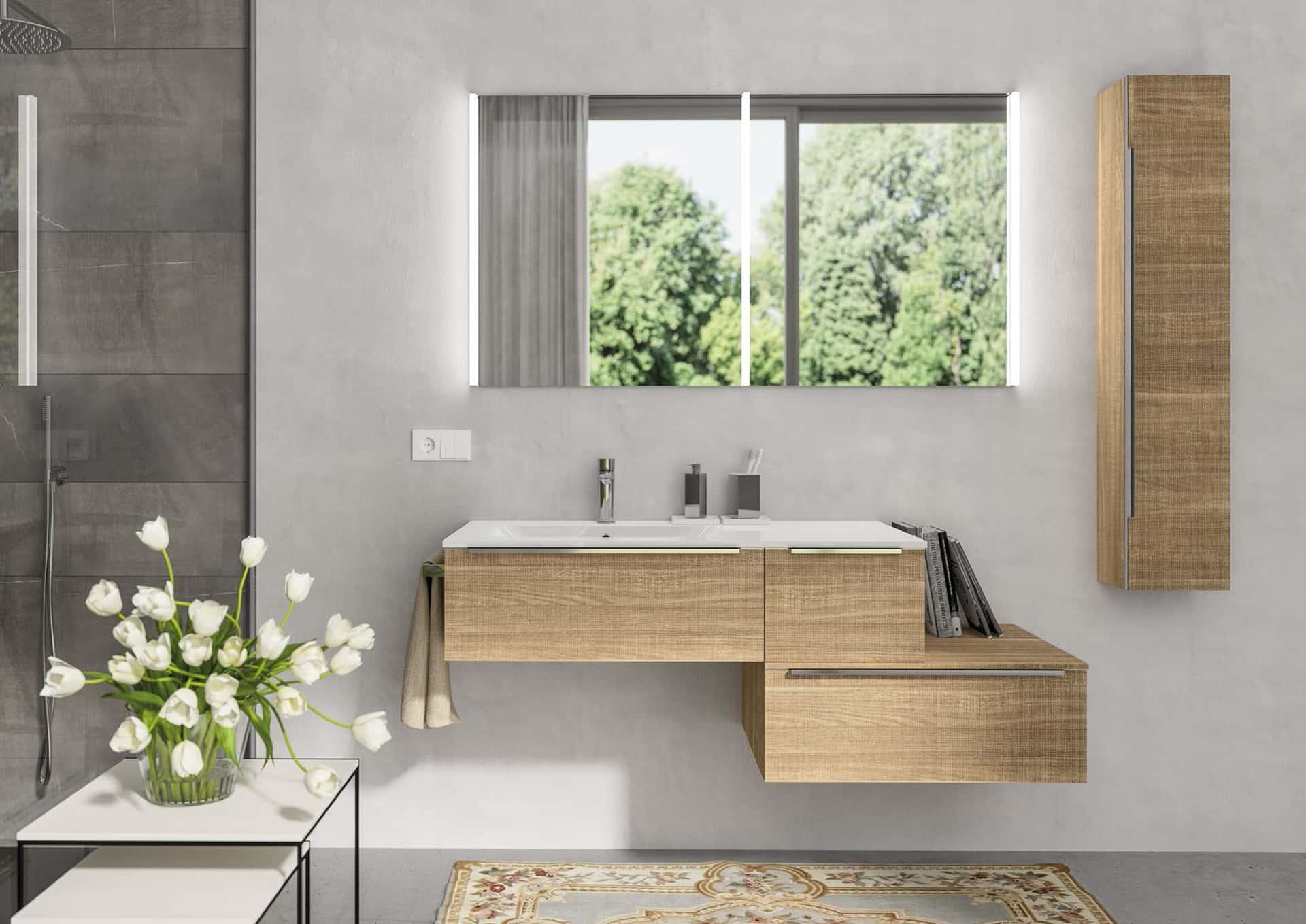 Plana i mobili bagno hi tech e ultramoderni di berloni for Piccoli mobili design