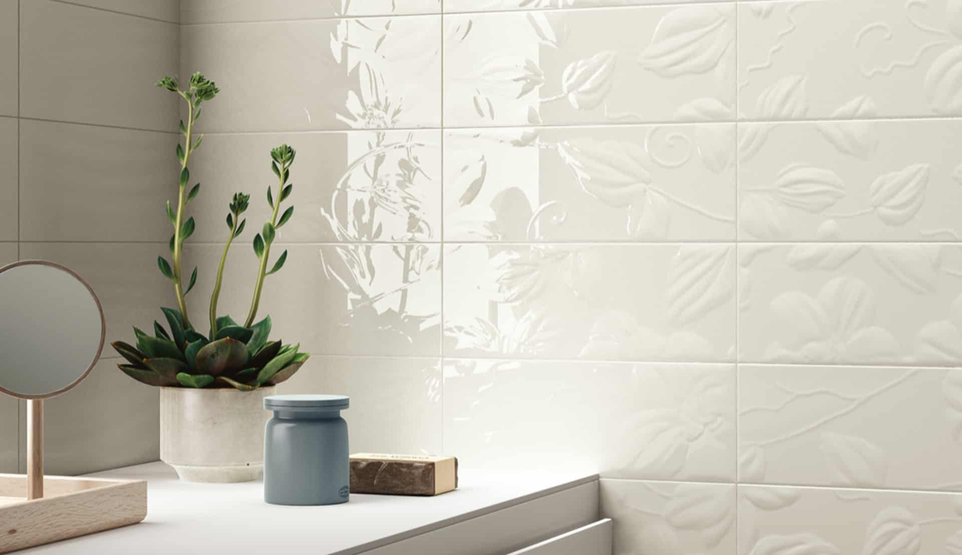 Il rivestimento bagno opaco e lucido wave - Immagini piastrelle bagno ...