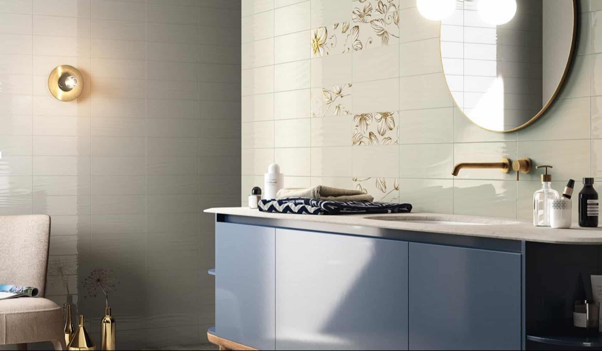 Il rivestimento bagno opaco e lucido wave - Rivestimenti piastrelle bagno ...