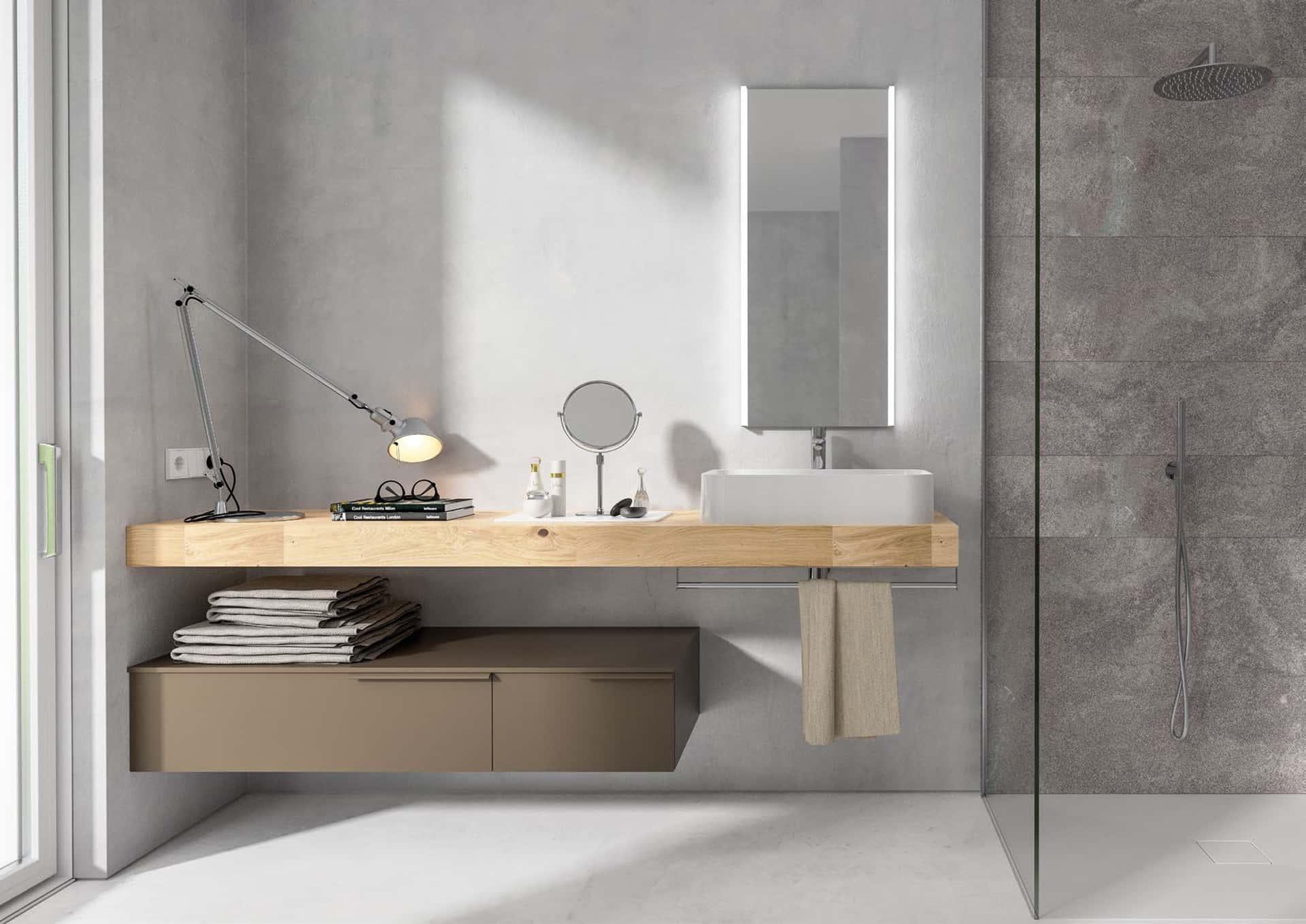 Mobili per il bagno manhattan di berloni bagno - Legno per bagno ...