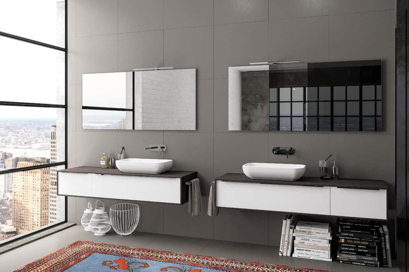 Manhattan, il mobile bagno dalle linee pulite ed essenziali