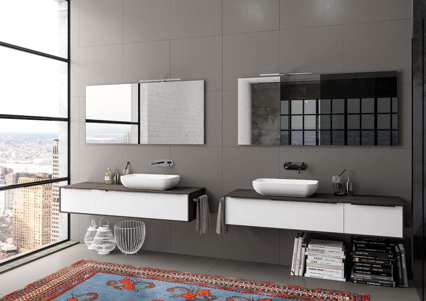 BERLONI BAGNO: Manhattan, the bathroom furniture with clean and ...