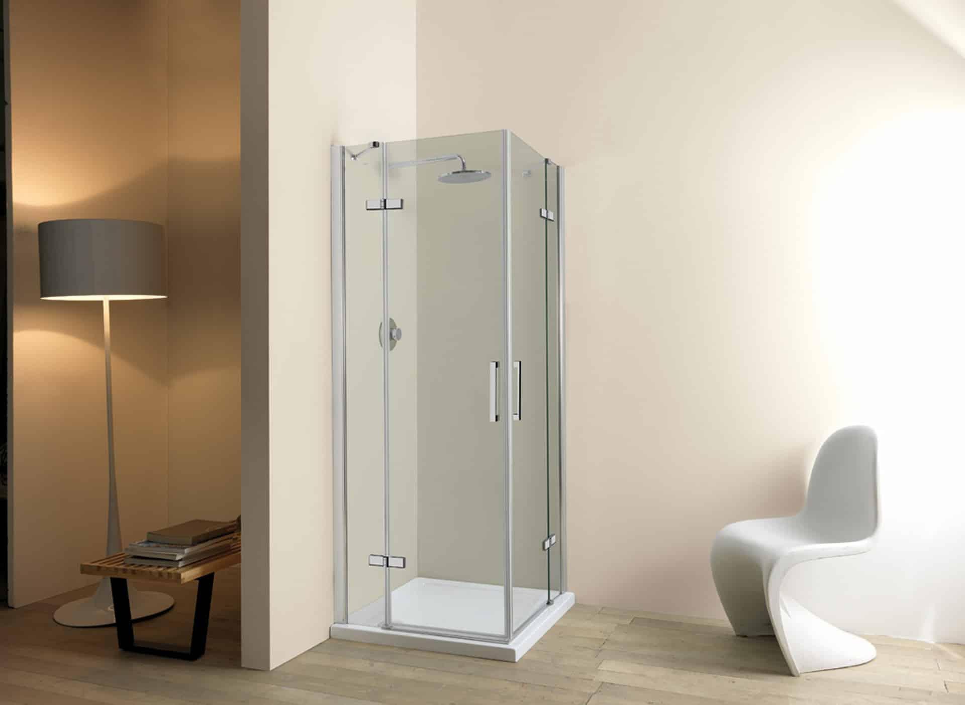 Cabina box doccia cristallo mm lati porta battente su lato