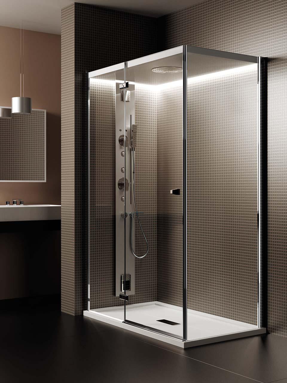 Bagni docce docce bagno e tecnologia cabine doccia with - Vasche da bagno con box doccia incorporato ...