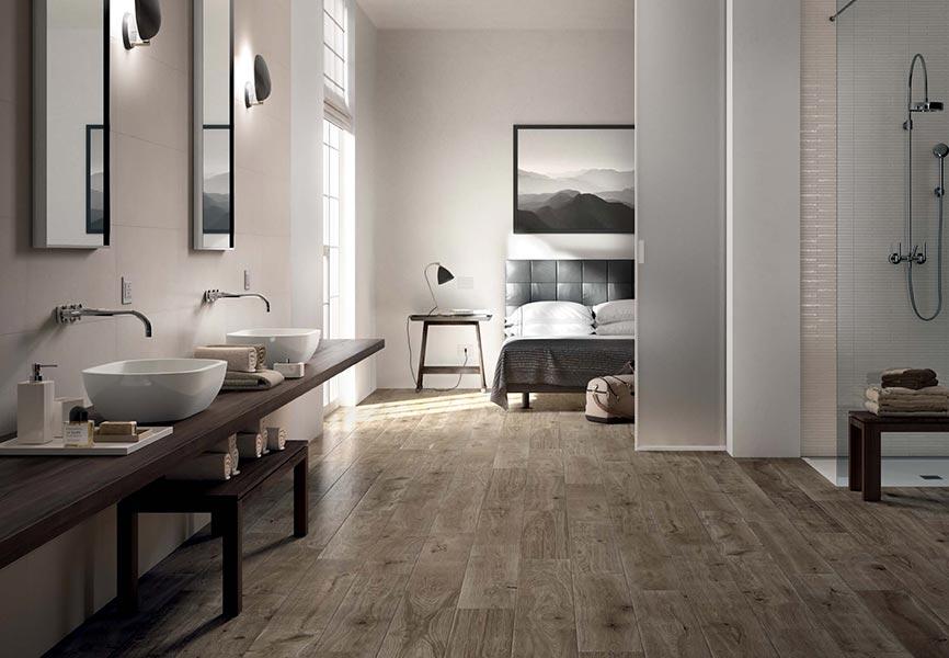 ... Gres effetto legno, pensato per la casa e spazi commerciali, che va ad