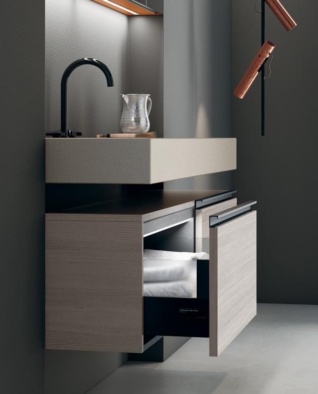 Opera il mobile bagno raffinato e elegante - Altamarea arredo bagno ...