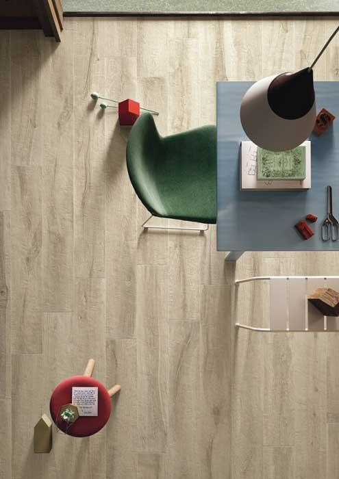 Kuni, l\'effetto legno strutturato di Imola Ceramica