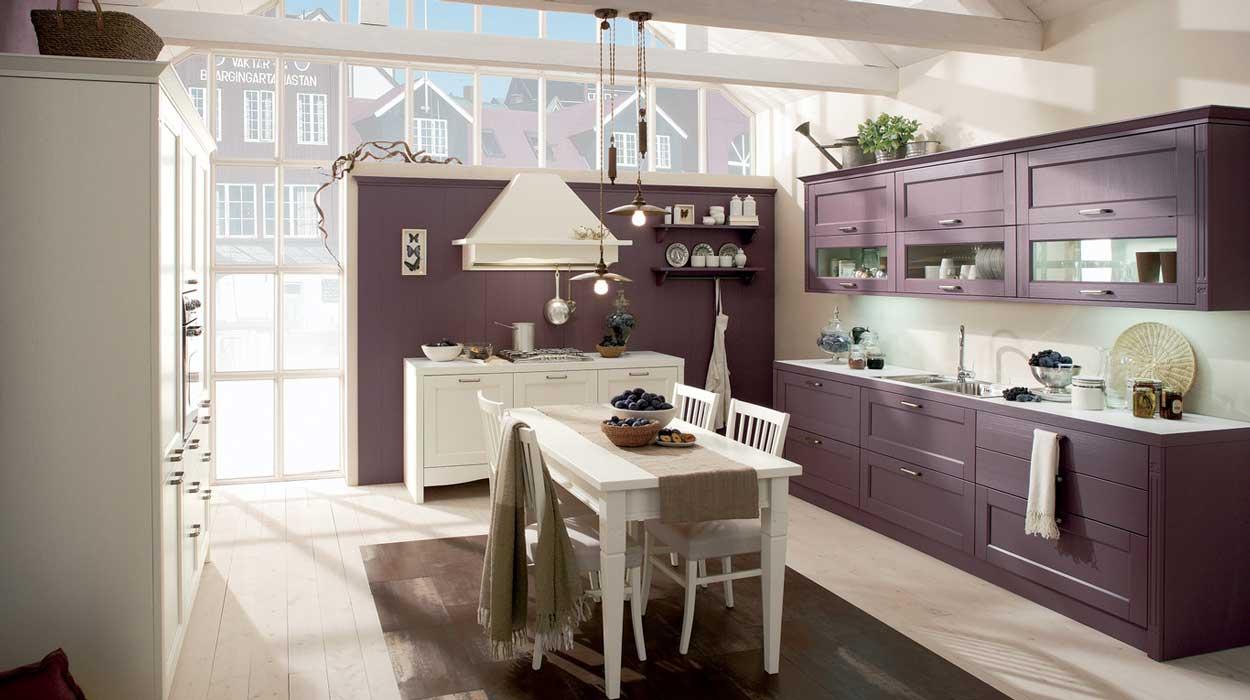 Stile, colore e fascino naturale per la cucina Gretha