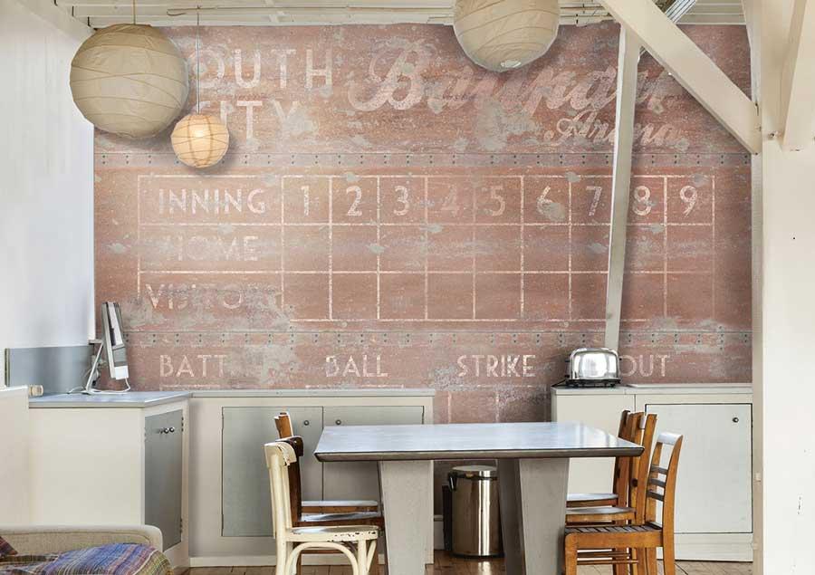 Wall script la carta da parati dallo stile industriale