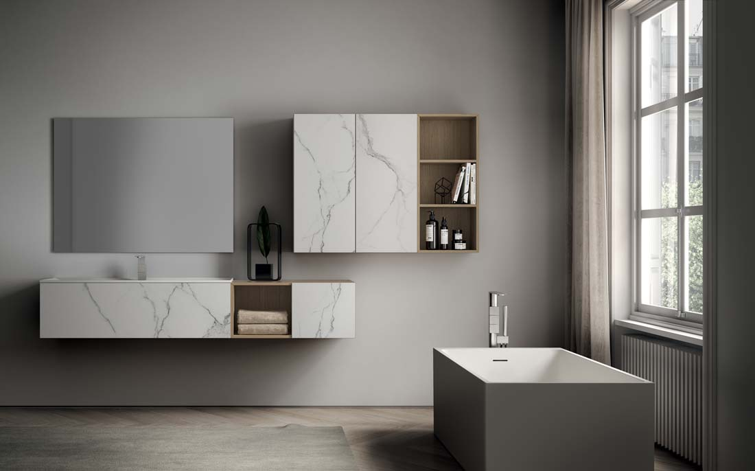 Ideagroup riscrive le regole del design del moderno mobile for Mobile moderno bagno