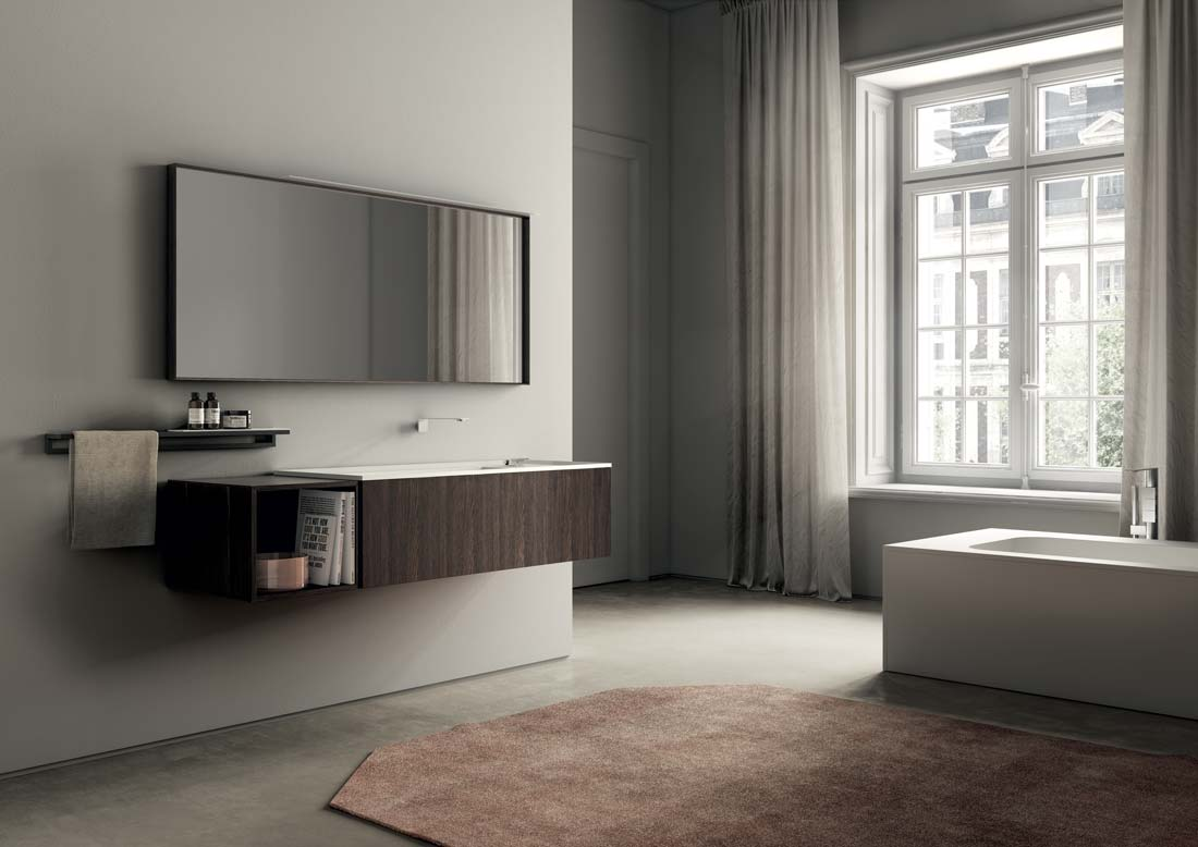 Ideagroup riscrive le regole del design del moderno mobile for Lavabo sospeso con mobile