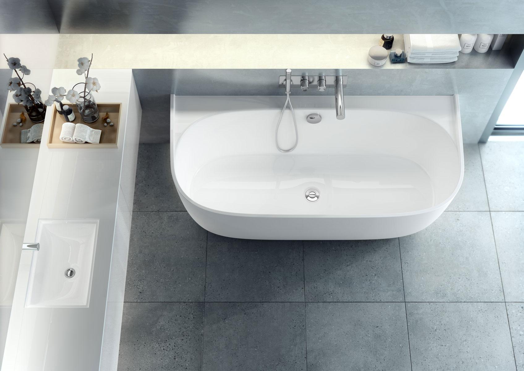 Eldon la vasca da bagno elegante e contemporanea - Vasca da bagno combinata ...