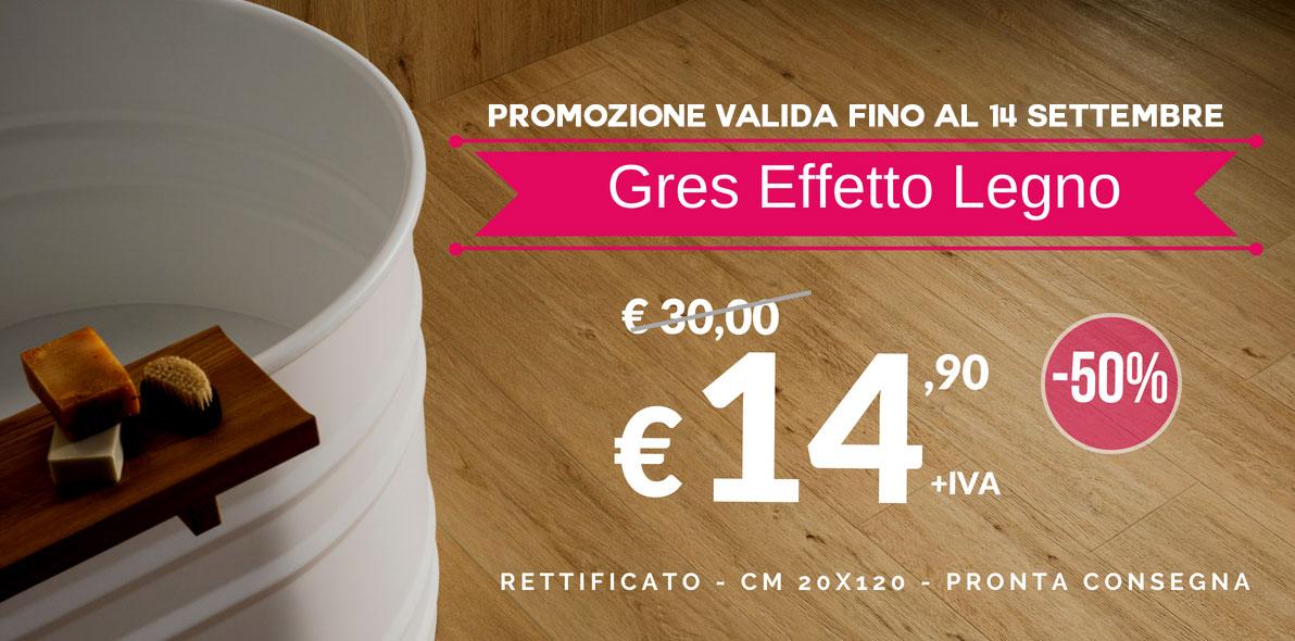 Promo Gres Porcellanato Effetto Legno - 50% di sconto - Orsolini